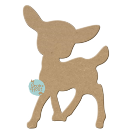 MDF Figuur `Bambi` 10cmx6mm | Koopjeshoek