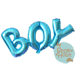 Folieballon Boy - Blauw - 90cm (ST159)