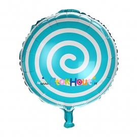 Folieballon Spiraal - Blauw - 45cm (ST048)