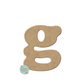 MDF Letter 'g' 10cmx6mm | Koopjeshoek