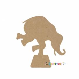 MDF figuur: Circus olifant (20cm)