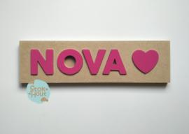 Naampuzzel 0-5 letters. Bijv. 'Nova'