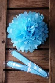 Pompom - 25cm - Licht blauw (ST109)