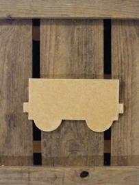 MDF Figuur 20cm `trein wagon`