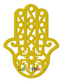 Muurfiguur 95cm Hand van Fatima (Hamsa) (bijv. Retro Geel) (ST079)