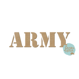 MDF Letters - Lettertype 'Army'