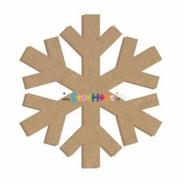 MDF figuur: Sneeuwvlok (20cm)