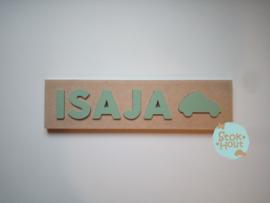 Naampuzzel 0-5 letters. Bijv. 'Isaja'