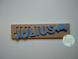 Naampuzzel 6-8 letters. Bijv. 'Julius'