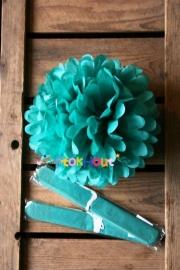 10x Pompoms - 25cm - Turquoise (ST108)