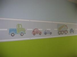 MDF (vracht)auto`s versierd met Mozaiek