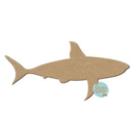 MDF Figuur `Haai` 20cmx6mm | Koopjeshoek