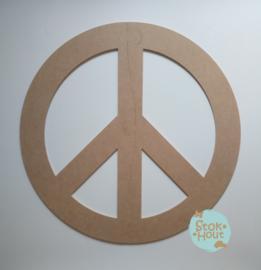 MDF figuur: Peace teken (M012)