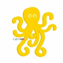 Muurfiguur Octopus (30-50-75-100cm)
