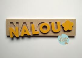 Naampuzzel 0-5 letters. Bijv. 'Nalou'