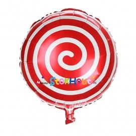 Folieballon Spiraal - Rood - 45cm (ST052)