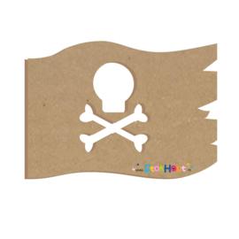 MDF figuur: Piratenvlag (M020)