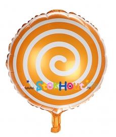 Folieballon Spiraal - Oranje - 45cm (ST050)