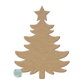 MDF Figuur `Kerstboom #2` 30cmx6mm | Koopjeshoek