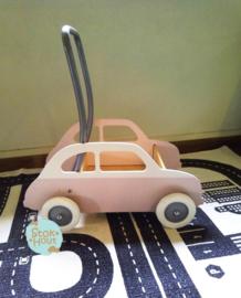 "Loopkarretje ""Fiat 500"" (bijv. Zacht roze) (ST088)"