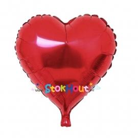 Hart ballon - Rood - 45cm (ST033)