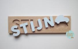 Naampuzzel 0-5 letters. Bijv. 'Stijn'