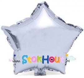 Ster ballon - Zilver - 20cm (ST039)