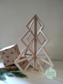 MDF Geometrische Kerstboom - 50cm (M055)