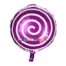 Folieballon Spiraal - Paars - 45cm (ST051)