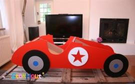 Geboortedisplay 'Race-auto' 120cm