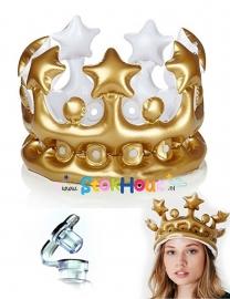 Opblaasbare Kroon - Goud - 30cm (ST054)