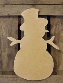 MDF Figuur 30cm `Sneeuwpop`