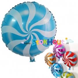 Lollie ballon - Blauw - 45cm (ST029)