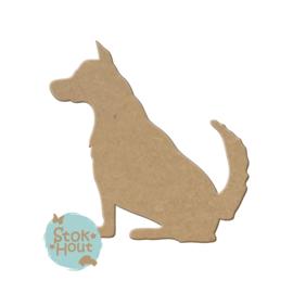 MDF figuur: Hond #5 (M234)