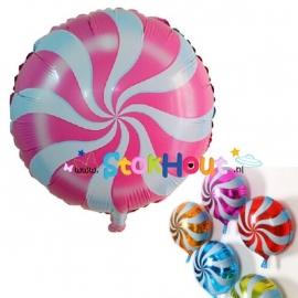 Lollie ballon - Roze - 45cm (ST028)