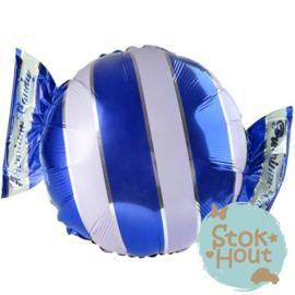 Folieballon Snoepje - Blauw - 65cm (ST150)