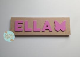 Naampuzzel 0-5 letters. Bijv. 'Ella'