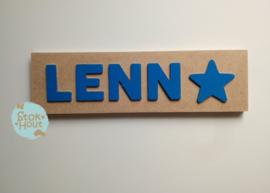 Naampuzzel 0-5 letters. Bijv. 'Lenn'