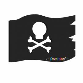 Muurfiguur Piratenvlag (10-20cm)