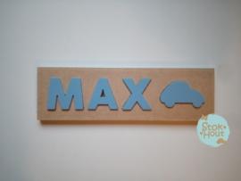 Naampuzzel 0-5 letters. Bijv. 'Max'