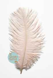 Struisvogelveer (3st) - Nude roze - 25 tot 30cm