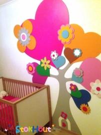 Hartenboom 220cm - 43 delen - in kleuren naar wens