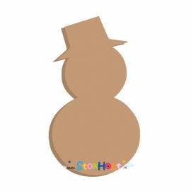 MDF figuur: Sneeuwpop (20cm)