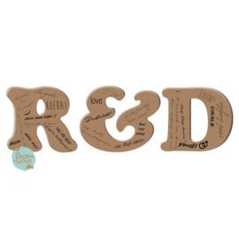 Gastenboek letters - Blanco MDF (bijv. R&D) (ST080)