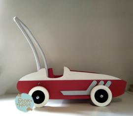 "Loopkarretje ""Retro Racewagen"" Vintage groen (ST182)"