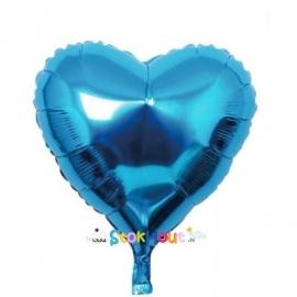 Hart ballon - Blauw - 45cm (ST034)