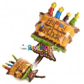 Happy Birthday Taart ballon - 45cm (ST030)