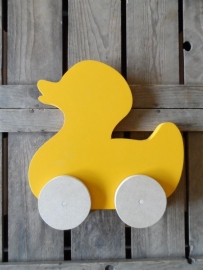 Badeendje op wielen (bijv. zonnebloem geel)