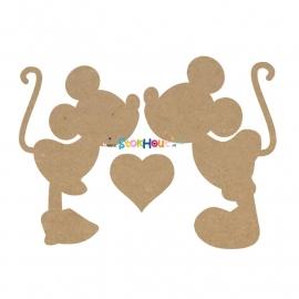 MDF figuur: Mickey en Minnie zijn verliefd (50cm)