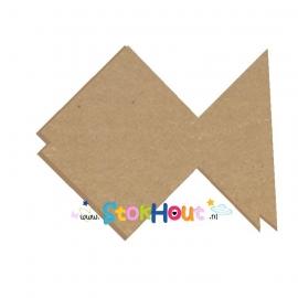 MDF Origami figuur: Vis (10-20cm)